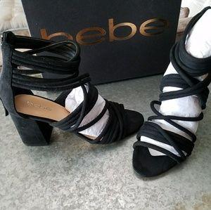Bebe strappy Noor heeled sandal 8 .5